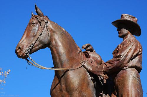 cowboys texas ballinger bronzestatues pompeocoppini runnelscounty charleshnoyes