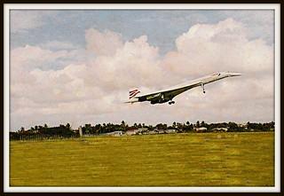 Concorde Landing in Barbados