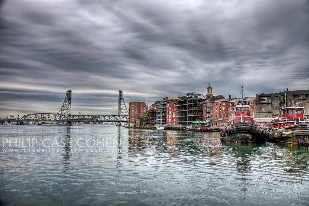 Portsmouth Waterfront While the Martingale Still Stood by Philip Case Cohen