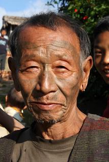 Konyak headhunter in the village of Totok Chingnyu, Nagaland