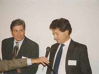 Marcello Gandini with Giorgetto Giugiaro, 1993 - Tokyo.