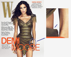 W Magazine's Demi Moore PhotoShop flub [a closer look] | by Anthony Citrano