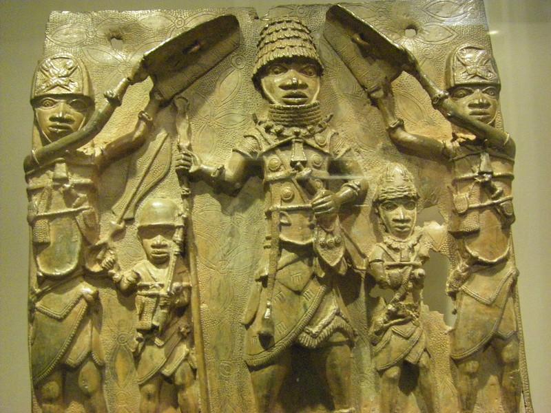 Benin. bronze plaque