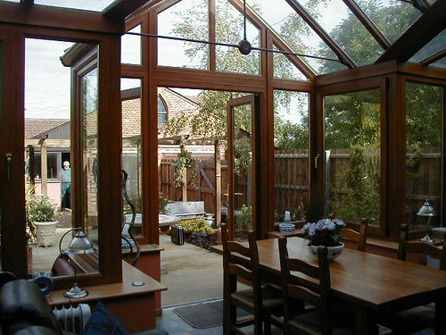 Wood conservatory inside