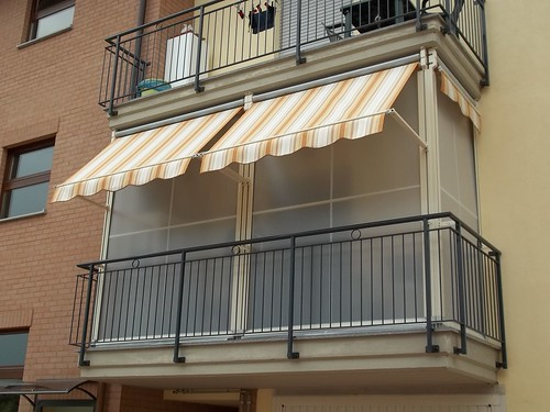 Tenda veranda doppio rullo estate inverno Parà Tempotest a Torino Chieri www.mftendedasoletorino
