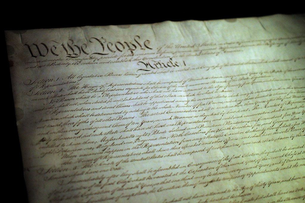 Constitution in the National Archives | The preamble and beg… | Flickr