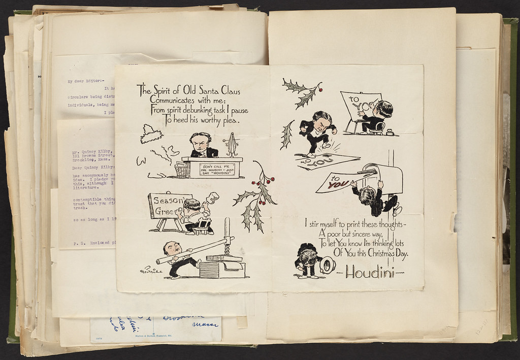 Harry Houdini Scrapbook [Christmas Card]