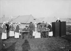 Nursing Sisters at a Canadian Hospital voting in the Canadian federal election / Des infirmières militaires d'un hôpital canadien en train de voter aux élections fédérales canadiennes | by BiblioArchives / LibraryArchives