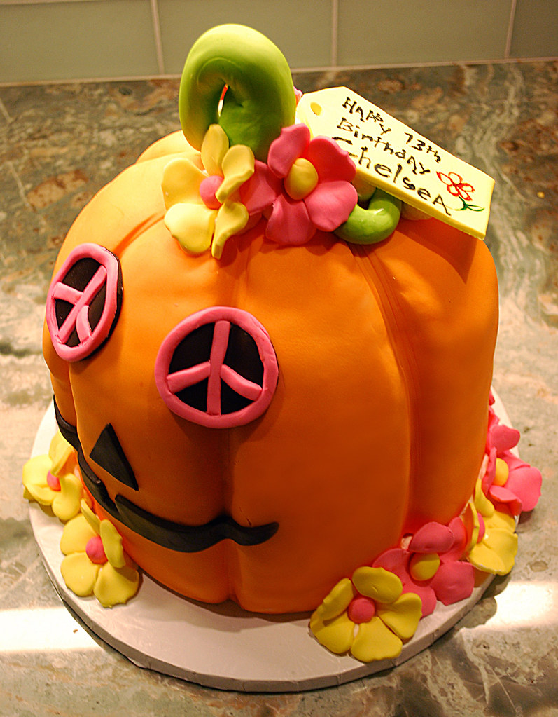 Prime Pumpkin Birthday Cake Birthday Cake For Chelsea Her Birth Flickr Funny Birthday Cards Online Alyptdamsfinfo