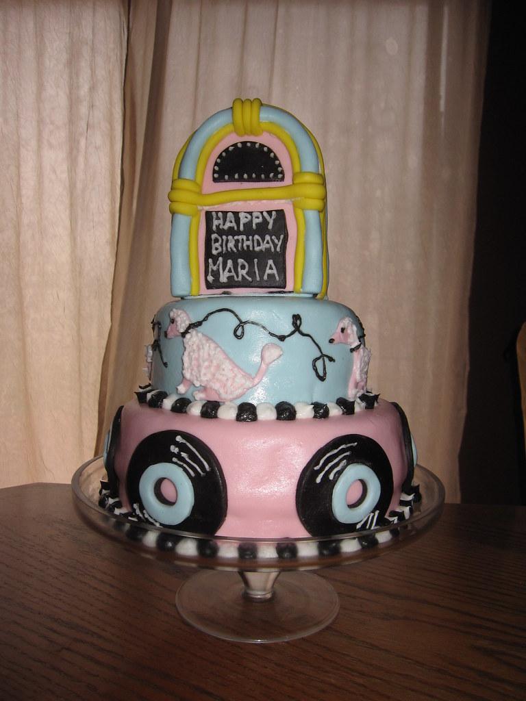 Enjoyable 50S Theme Birthday Cake Dina Flickr Funny Birthday Cards Online Necthendildamsfinfo