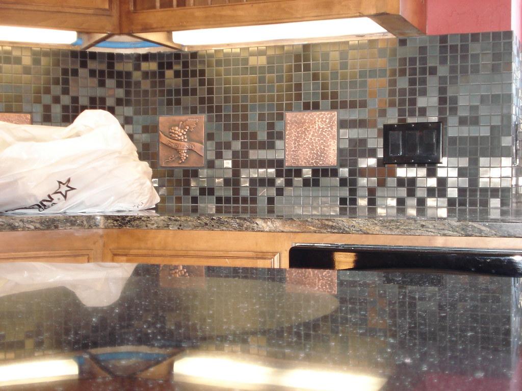 - Innovative Kitchen Backsplash Using Metallic Tiles For An … Flickr