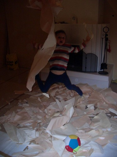 Tearing down old wallpaper