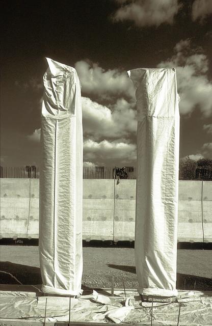 covered pillars