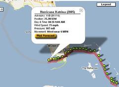 Plotting Katrina on Google Maps - when will government start