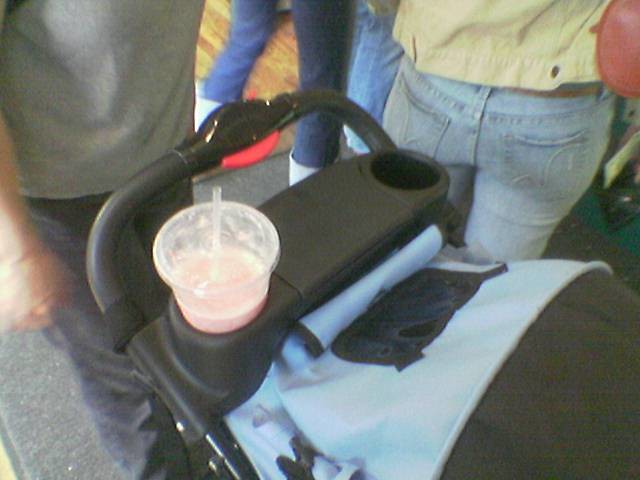 Stroller with coffee cup holder   T L   Flickr