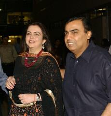 Mukesh & Nita Ambani