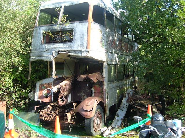 October 2 derelict Southdown bus