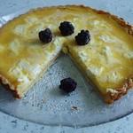 Sweet lemon & goat's cheese tart