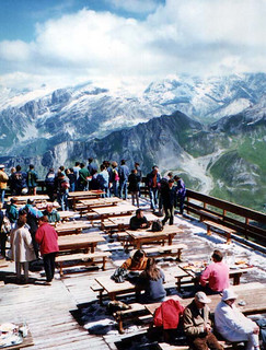Cafe at summit of Saulire