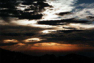 Sunset, Mude Caves Camp, Mount Elgon