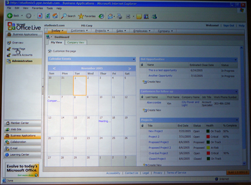 Office Live Dashboard