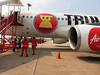 S Air Asia do Mandalaje, foto: Šárka Vacková