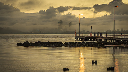 city morning water weather fog clouds river landscape dawn scenery cityscape jetty sony scenic australia alpha tamron westernaustralia swanriver daybreak applecross 2470mm a99 cityofperth slta99 stevekphotography