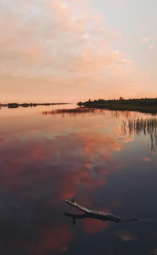 pink sunset summer sky lake nature up michigan north galaxy waterscape s6