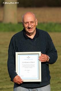 Dave Harbour & his Certificate of Meri