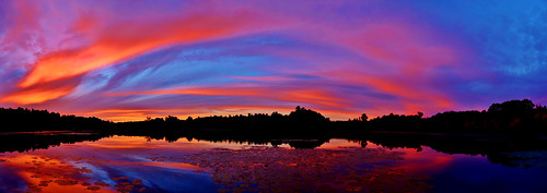 sunset sky panorama cloud lake color reflection water clouds wow nikon kayak ryan pano great panoramic reflect 5100 rensselaer grennan westsandlake ourplanet d5100 reichardslake rwgrennan rgrennan