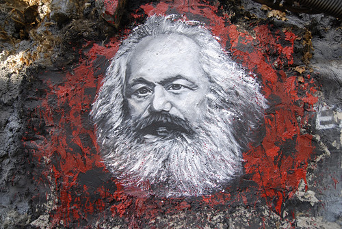 Karl Marx, painted portrait _DDC2787