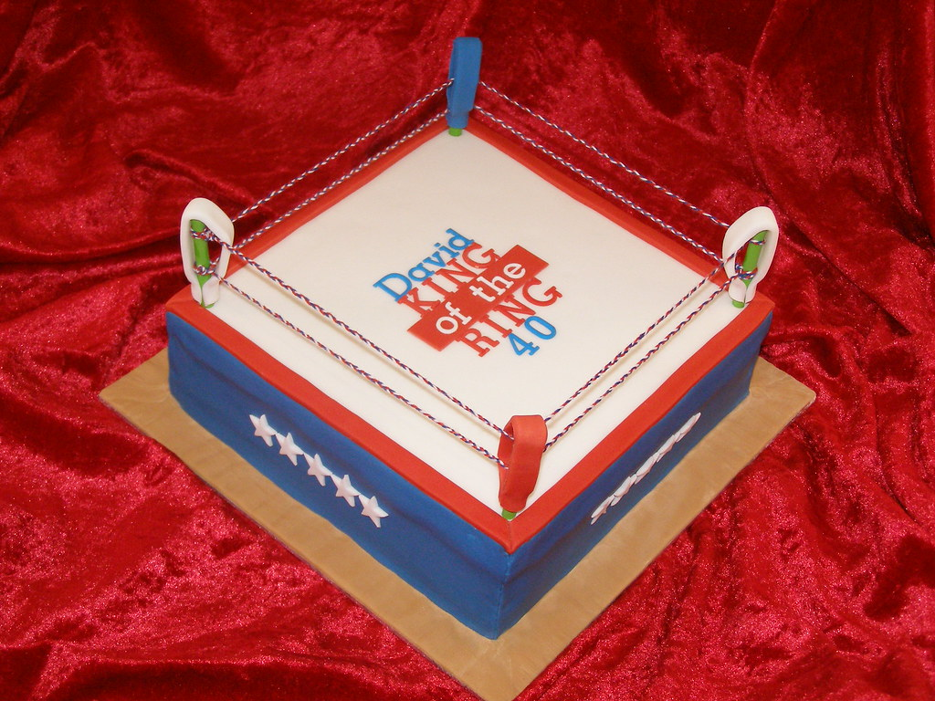 Awesome Davids Boxing Ring Birthday Cake Cake Designer 57 Mosel Flickr Funny Birthday Cards Online Hendilapandamsfinfo