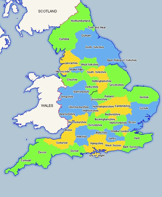 Map Of England And Counties.Ceremonial Counties Of England Map Fletchandclare Flickr