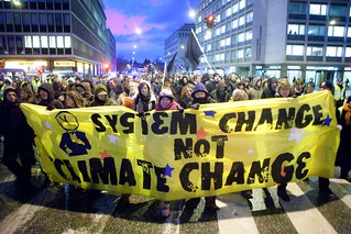 """System Change Not Climate Change"" banner - United Nations Climate Change Conference - COP15 - Copenhagen, Denmark 