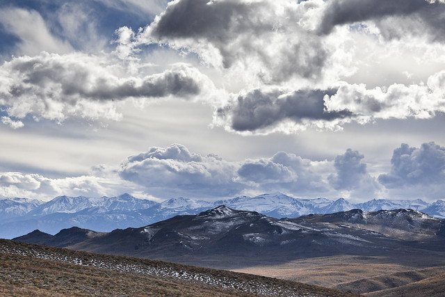 Unsettled weather over the Bodie Hills and High Sierra
