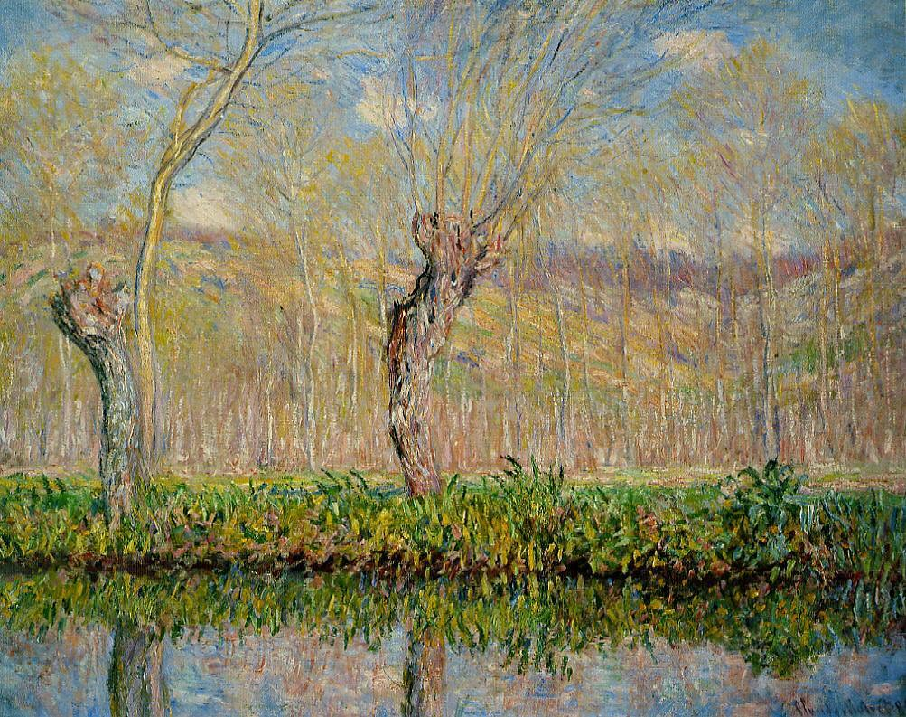 W 980 - Claude Monet: The Banks of the River Epte in Sprin… | Flickr