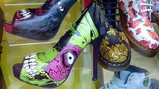 Zombie spike heels, shop-window, Camden High Street, Camden, London, UK | by gruntzooki