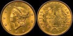 1851-O Gold $1.00 PCGS MS64   by RareGoldCoins.com