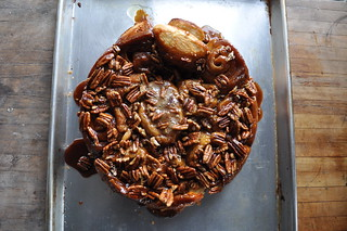 brioche dough turned into honey pecan sticky buns | by katy elliott