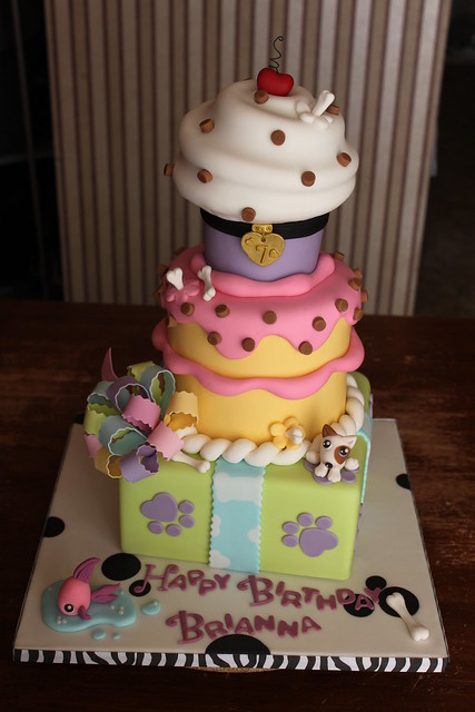 Littlest Pet Shop inspired Stacked Party Cake