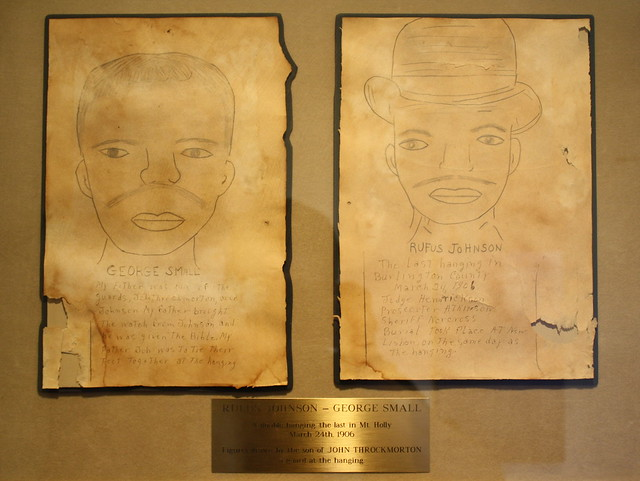 Burlington County Prison Museum - Drawings of George Small and Rufus Johnson