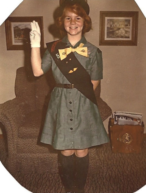 1963-Me in my Girl Scout uniform