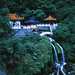 The Eternal Springs Shrine at Taroko Gorge. Yes, it's pretty high up on a sheer cliff. Gutsy. /   Canon AE-1 / 135mm f/2.8 / Velvia 50