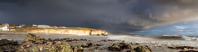 Isle of Wight Surfing Panorama