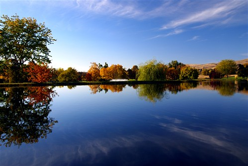 blue sky colour reflection fall nature water clouds ycc yakima autunm