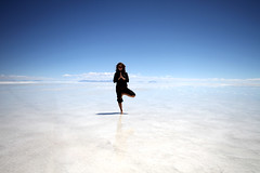 Yoga Jill on the Bolivian Salt Flats | by John Wiseman