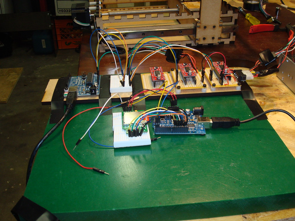 Arduino + Arduino + SD Shield + GRBL + EZ Drivers = Headle… | Flickr