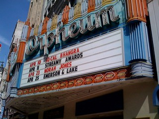 Streamy Awards on the marquee at The Orpheum | by Steve Woolf