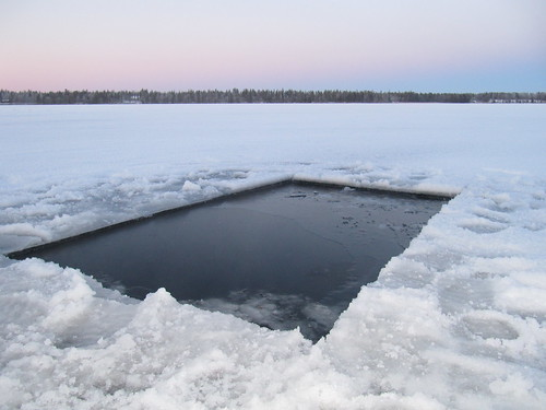 ice hole for after sauna | by RukaKuusamo.com