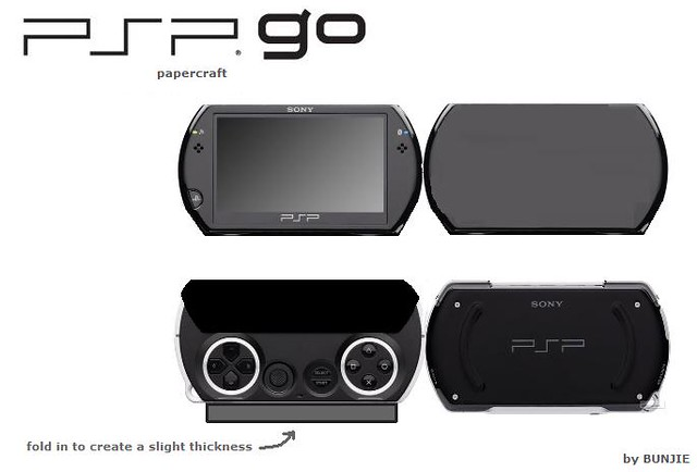 psp go papercraft | sky in the air, waves? | Flickr